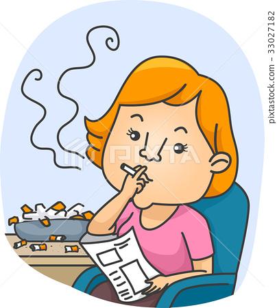 Girl Chain Smoker Ashtray 33027182