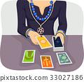 Girl Tarot Card Reader 33027186