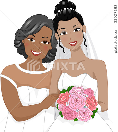 Black Girl Bride Mom 33027192