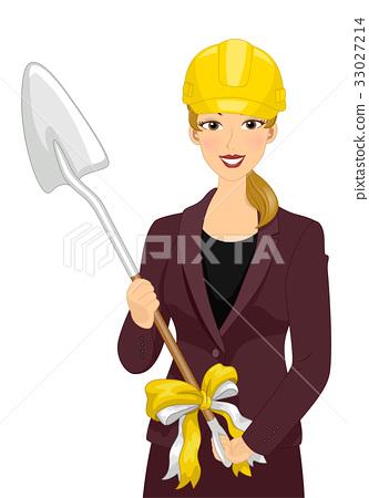 Girl Groundbreaking Shovel 33027214
