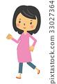 walking, pregnant, woman 33027364