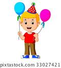 气球 生日 男孩 33027421