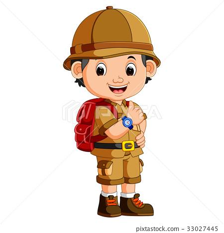 cute hiker boy 33027445