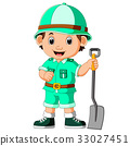 boy, cartoon, hiker 33027451