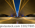 Perspective of the bridge with urban background 33027885