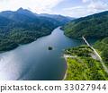 공중 촬영, 호수, 댐 호수 33027944