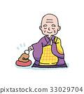 wooden fish, monk, buddhist priest 33029704