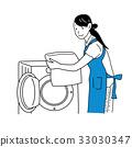 洗衣服的女人 33030347