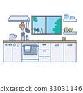 厨房 室内装饰 室内设计 33031146