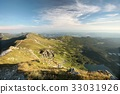 Tatra Mountains over the valley at dawn 33031926