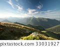 Panorama of the Tatra Mountains at sunrise 33031927