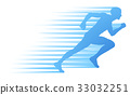 Silhouette Runner Sprinting or Running Concept 33032251