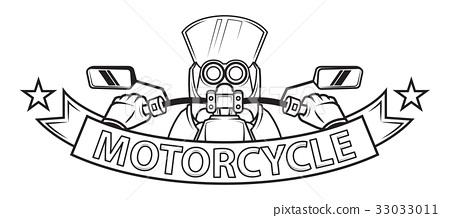 motorcycle ribbon emblem logo 33033011