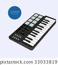 mini keyboard sketch vector. 33033819
