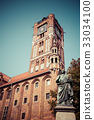 Nicolaus Copernicus statue in Torun, Poland 33034100