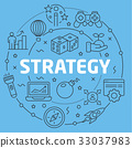 Blue Line Flat Circle illustration strategy 33037983