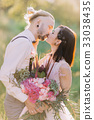 The close-up portrait of the kissinjg newlywed 33038435