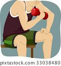 啞鈴 肌肉 肌肉發達 33038480
