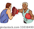 Man Trainer Boxing Practice 33038490