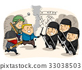Man Police People Riot Attack 33038503