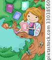 Book Tree Kid Girl Reading 33038560