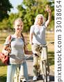 bicycle, grandmother, happy 33038654