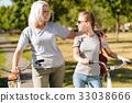 bicycle, grandmother, riding 33038666