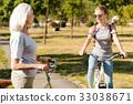riding, granddaughter, bicycle 33038671