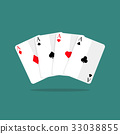 Four aces playing cards 33038855