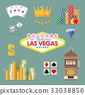 Las vegas icon set 33038856