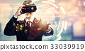 Digital Tech Circle with businessman using a 33039919