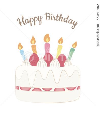 birthday cake, greeting card, candle 33041402