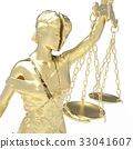 Broken lady of justice 3d rendering 33041607