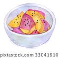 拔絲地瓜 水彩效果 紅薯 33041910