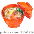 Watercolor illustration food 33041914