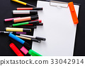 Stationery for drawing, markers and blank paper 33042914
