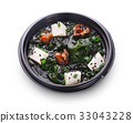 Japanese cuisine. Miso soup with tofu cheese 33043228