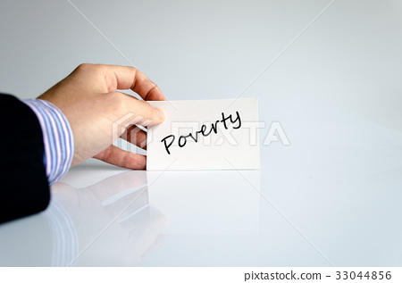 Poverty text concept 33044856