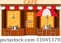 vector, cafe, shop 33045379