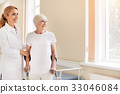 Admirable motivated lady learning walking again 33046084