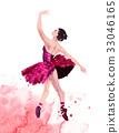 Watercolor ballerina hand painted Ballet dancer 33046165