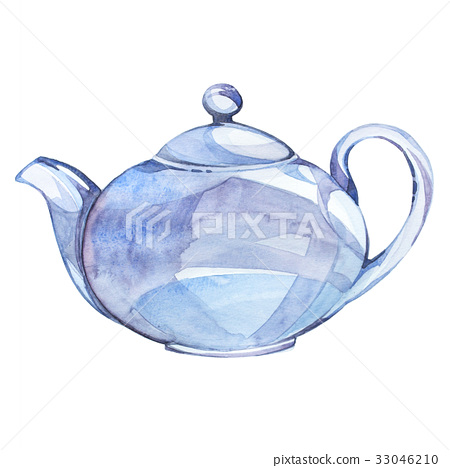 Watercolor illustration on the theme of tea 33046210