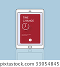 Time concept is on digital device icon design 33054845