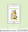 Buy Fresh Food Marketplace Supermarket Shopping Graphic 33054900