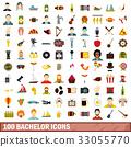 100 bachelor icons 33055770