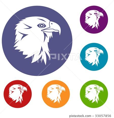 Eagle icons set 33057856