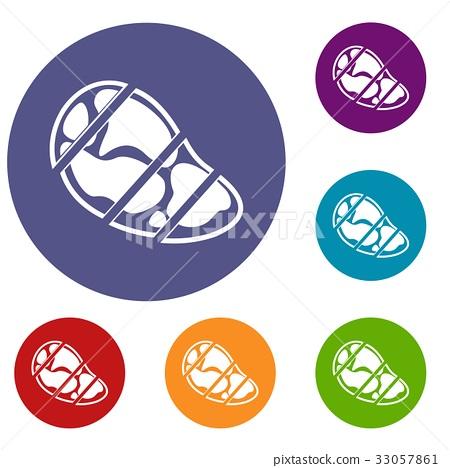 Steak icons set 33057861
