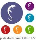 Lizard icons set 33058172