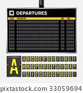 Airport Board Vector 33059694