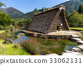 village, shirakawago, traditional 33062131